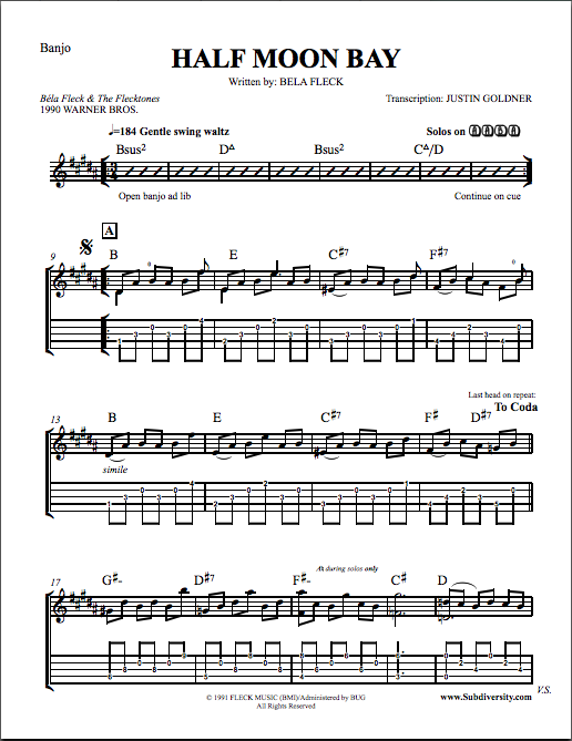 Banjo u00bb Banjo Tabs Modern Music - Music Sheets, Tablature, Chords and Lyrics